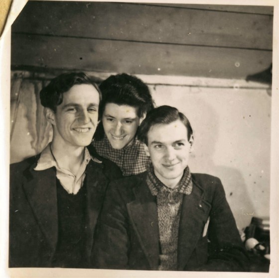 Wim, Doortje and Leo Haagen